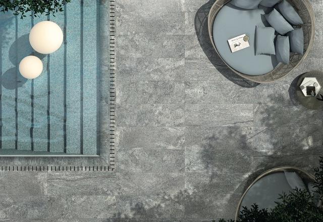 Carrelage déco piscine